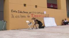 News: Preacher Prays before Civil Protest HD - stock footage