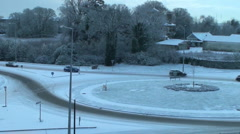 Icy Roads Stock Footage
