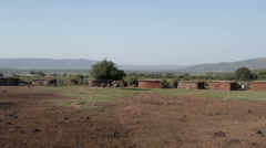 Massai village P2 Stock Footage