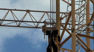 Crane detail in motion Stock Footage