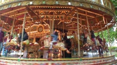 Merry Go Round at Local Festival - stock footage