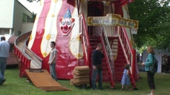 Helter Skelter at Local Festival Stock Footage