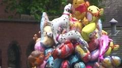 Fun Design Balloons Stock Footage