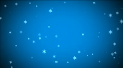Blue Christmas Background With White Snowflakes Stock Footage