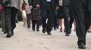 Office Workers Feet Walking Stock Footage
