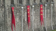 Tower of London Wall Tapestries Stock Footage