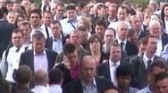 Office Workers Walking in London Stock Footage