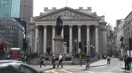 Stock Video Footage of Traffic Junction at the Bank of England