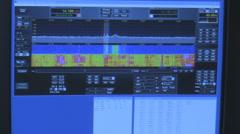 Computer Screen Shooing Radio Tuning Stock Footage