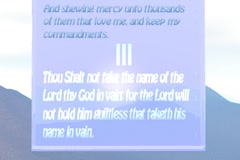 3rd Commandment Sapphire English Stock Footage