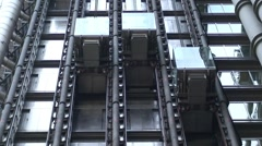 Lloyd's Building Elevators Stock Footage