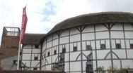 Globe Theater in London Stock Footage