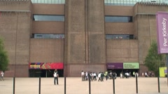 Tate Modern Gallery in London Stock Footage