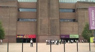 Tate Modern Gallery in London Stock Footage