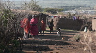 Stock Video Footage of Massai village P5