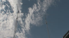Radio Towers Time Lapse with clouds - HD1080 Stock Footage
