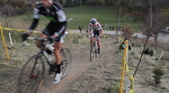 Stock Video Footage of Cyclocross race. Hillclimbers.