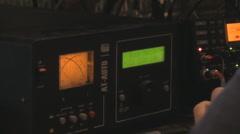 Ham Radio Equipment Zoom - HD1080 Stock Footage
