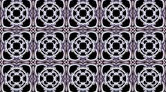 Pierced metal flower lotus pattern floortiles persian halo stage background. Stock Footage