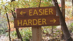 Easier or Harder. Stock Footage