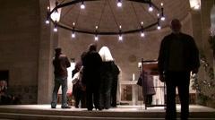 Christmas mass at the Benedictine Monastery, Tabgha, Israel Stock Footage