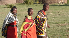 Massai women dance P1 Stock Footage