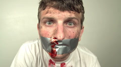 Bloody Nose and Duct Tape Stock Footage