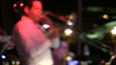 Jazz Trombone Player Stock Footage