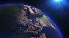 Detail of Rotating Earth Globe, Loop  - stock footage