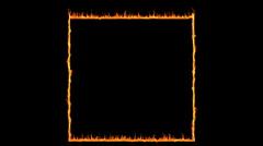 Fire frame loop HD 1080 loopable Stock Footage