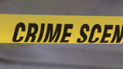 Crime Scene Tape 2 Stock Footage