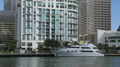 Mega yachts in Miami Stock Footage