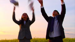 Carefree business - stock footage