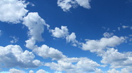Stock Video Footage of Rolling Clouds and Blue Sky Timelapse