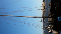 Vertical old ship HD 1080p Stock Footage