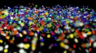 Stock Video Footage of confetti