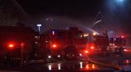 LAFD Fire Trucks Crew Stock Footage