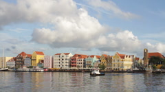 Willemstad, Curacao tugboat Stock Footage