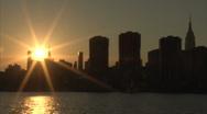 Manhattan sunset Stock Footage