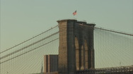 Zoom out on brooklyn bridge Stock Footage