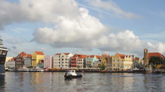 Willemstad Cruise Ship Stock Footage