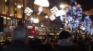 Crowd at night Stock Footage