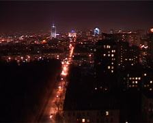 Chelyabinsk Night Stock Footage