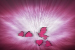 Valentine's Day Hearts Background Stock Footage