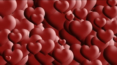 Love hearts transition Stock Footage