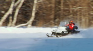 Stock Video Footage of Snowmobile