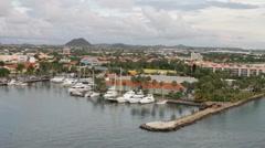 Stock Video Footage of Aruba, L.G. Smith Blvd, Oranjestad