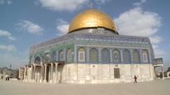 Dome Of The Rock, Jerusalem Stock Footage
