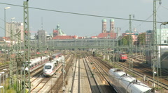 Munich Hauptbahnhof Stock Footage