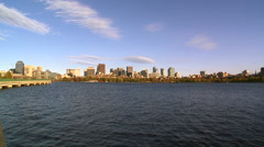 Beautiful Skyline Of Boston, USA Stock Footage